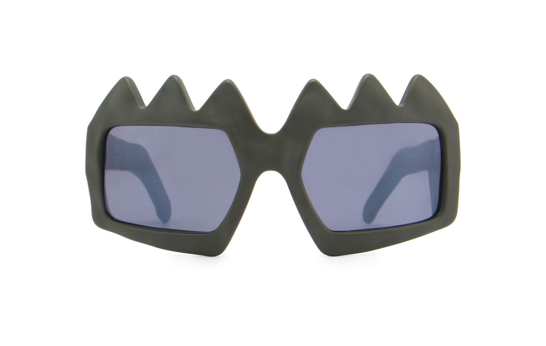 FAKBYFAK x Walter Van Beirendonck  Bliksem Sunglasses. Military Green Code: FBF-09-13-04