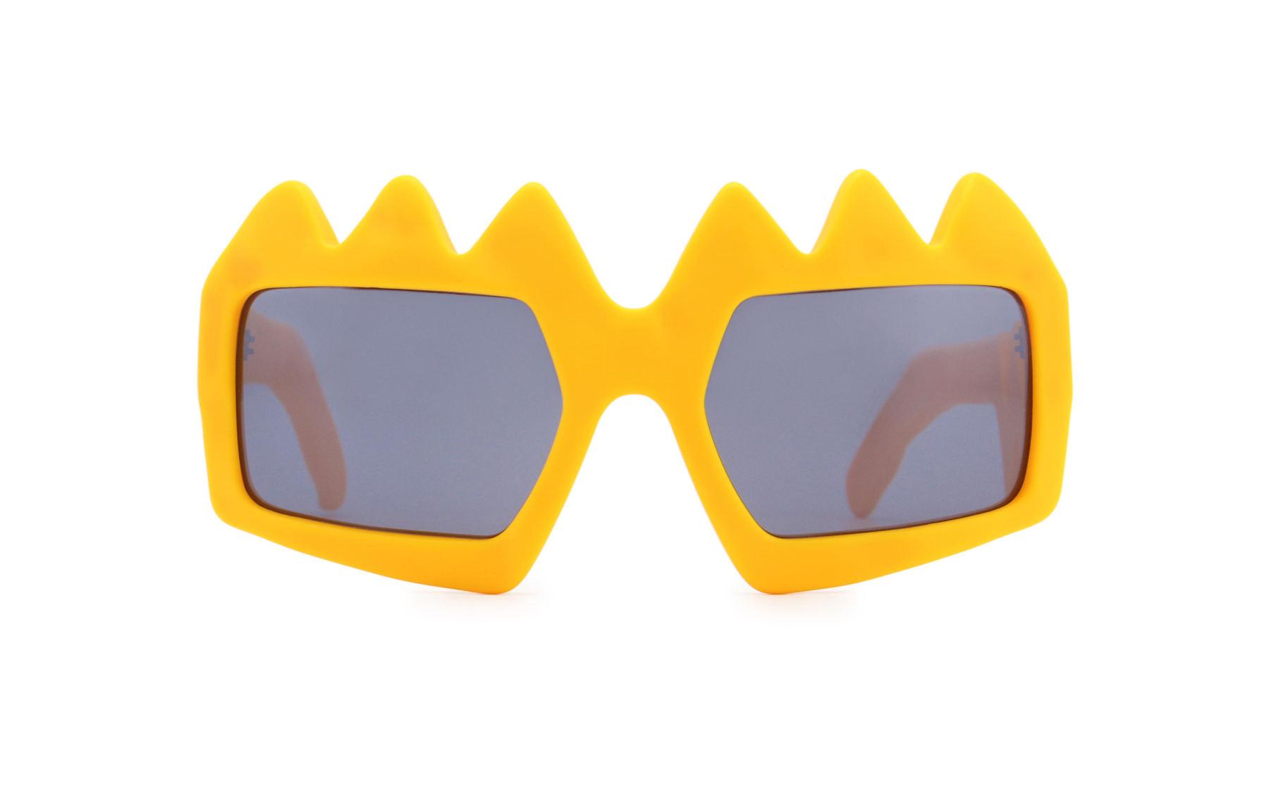 FAKBYFAK x Walter Van Beirendonck  Bliksem Sunglasses. Zinnia Orange Code: 09/13/06