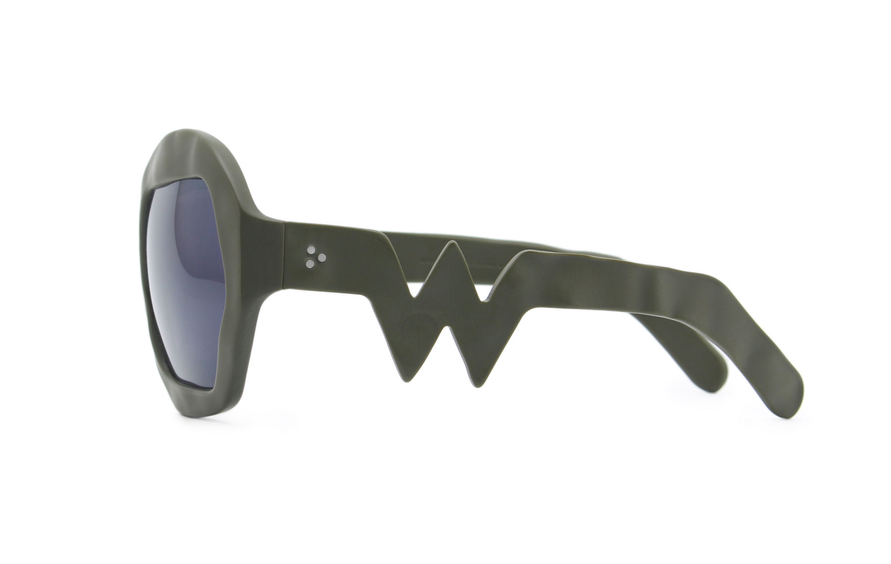 FAKBYFAK x Walter Van Beirendonck  Donder Sunglasses. Military Green Code: FBF-09-14-04