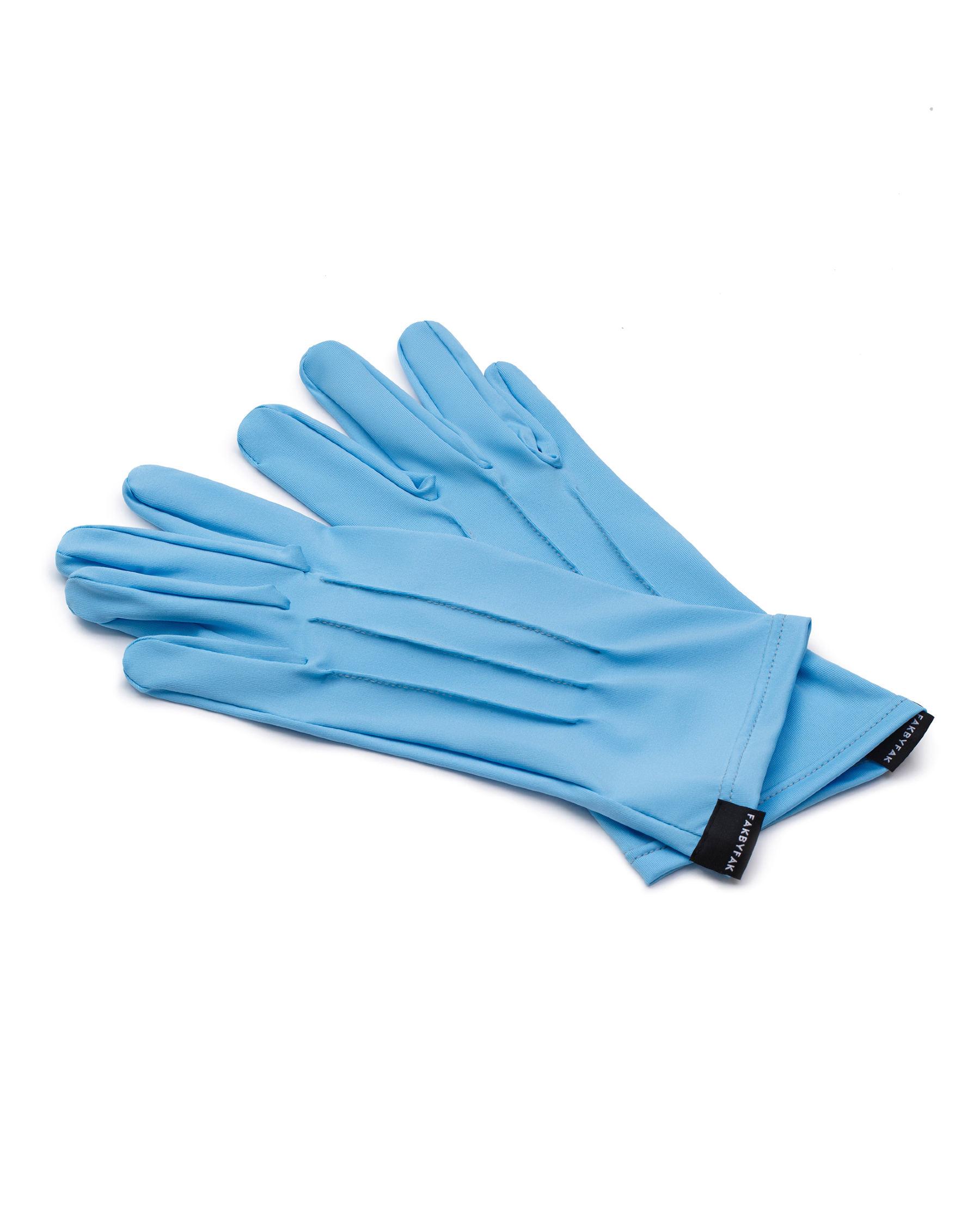 FAKBYFAK  The Vega. Fine Protective Antibacterial (ATB-UV+) Unisex Gloves. Light Blue Code: FBF-41101-05