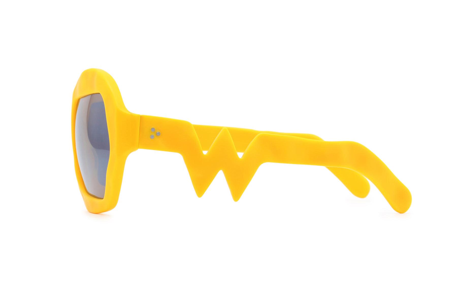 FAKBYFAK x Walter Van Beirendonck  Donder Sunglasses. Zinnia Orange Code: FBF-09-14-06