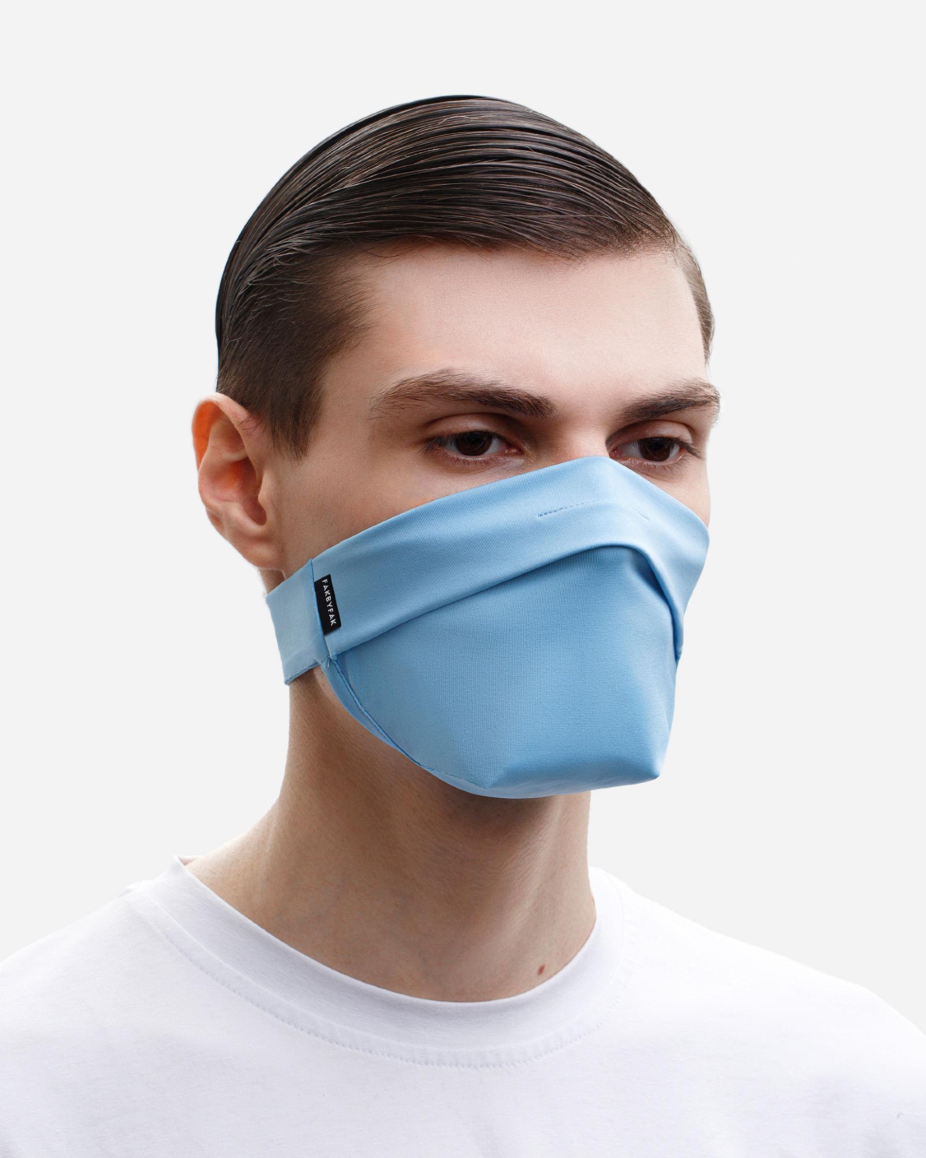 FAKBYFAK  The Vega. Ear Strap-Free High-End Protective Antibacterial (ATB-UV+) Face Mask. Light Blue Code: FBF-42101-75