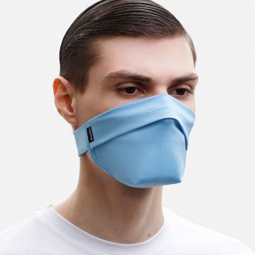 The Vega. Ear Strap-Free High-End Protective Antibacterial (ATB-UV+) Face Mask. Light Blue