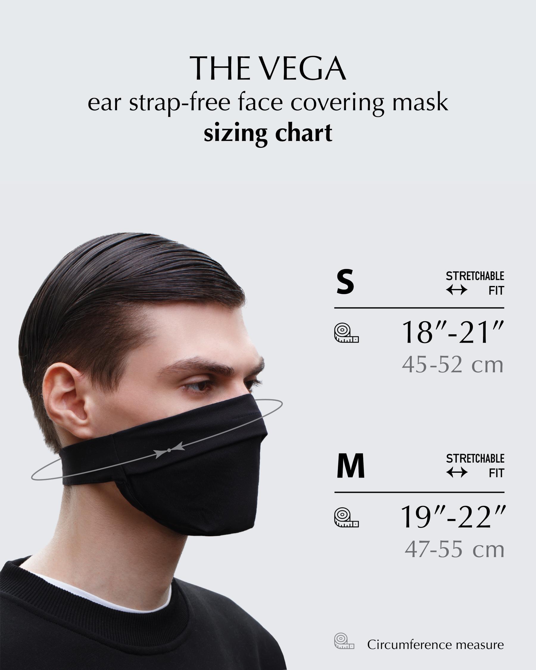 FAKBYFAK  The Vega. Ear Strap-Free High-End Protective Antibacterial (ATB-UV+) Face Mask. Grey Code: FBF-42101-73