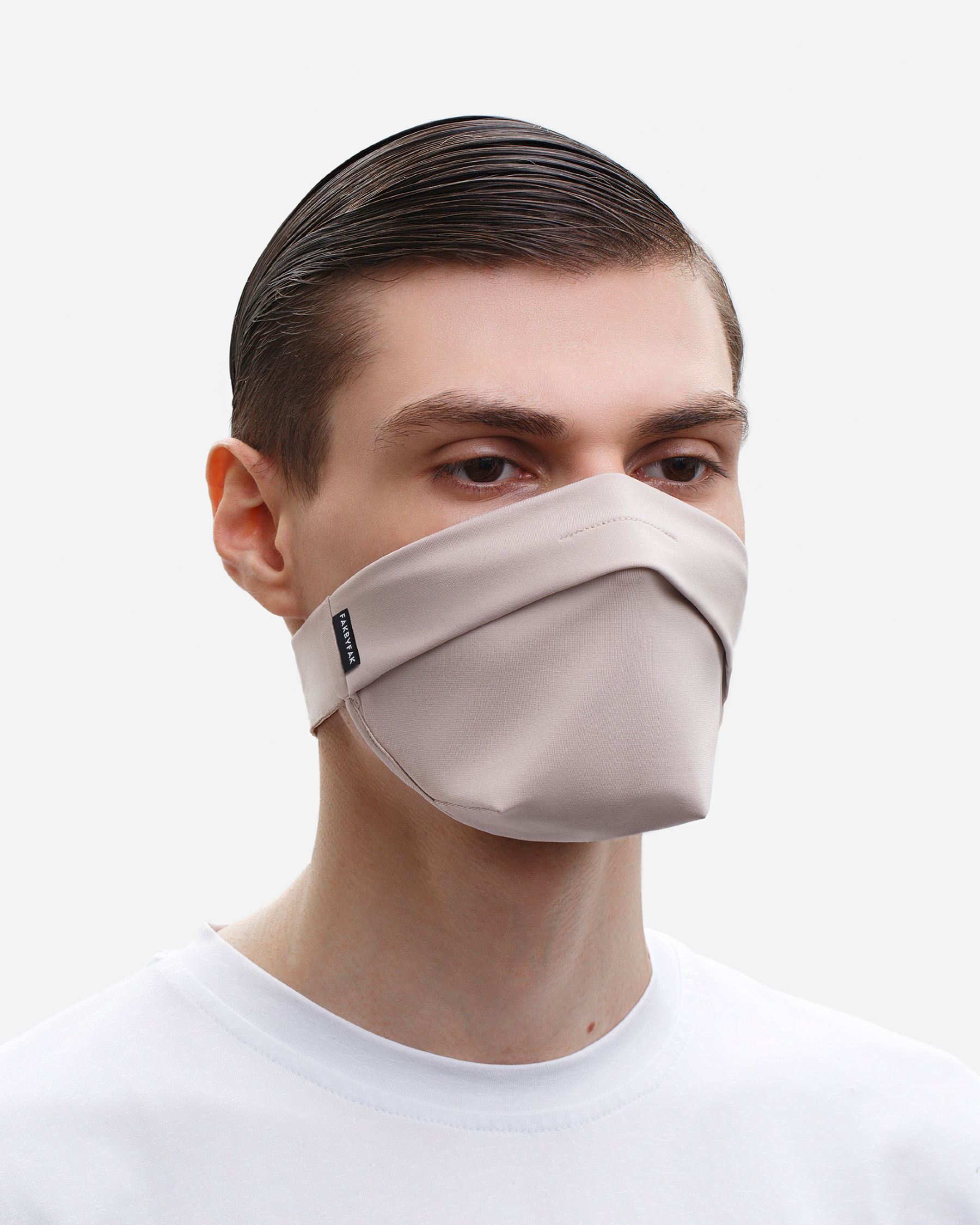 FAKBYFAK  The Vega. Ear Strap-Free High-End Protective Antibacterial (ATB-UV+) Face Mask. Beige Code: FBF-42101-72